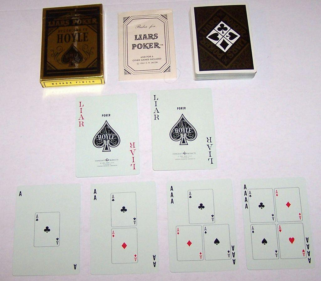 "Hoyle (Stancraft) ""Liars Poker"" Card Game, C.R. Jacob Designs, c.1961"