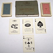 "Double Deck USPC ""French, Shriner & Urner"" Playing Cards,  ""Twin Grip"" Golf Shoes, ""Four Aces of Clubs"" (Sarazen, Cooper, Diegel, Farrell), c.1927"
