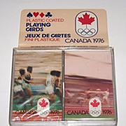 "Double Deck Brown & Bigelow (Stardust) ""XXI Olympic Summer Games Montreal 1976,"" c.1"