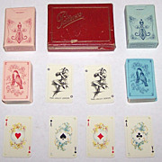 "Double Deck Muller ""Patience 104"" Mini-Patience Playing Cards, Rokoko Pattern, c.194"