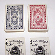 """Double Deck National """"Columbia 133"""" Playing Cards (52/52 NJ), c.1900"""