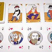 """Coeur """"750th Anniversary Berlin Commemorative"""" Playing Cards, Manfred Bofinger Designs, c.1986"""