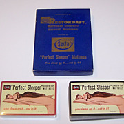 "Double Deck USPC ""Serta"" Pin-Up Playing Cards, ""Perfect Sleeper"" Mattress Advertising,"