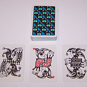 """Coeur """"Essay"""" Playing Cards, Hannelore Heise Designs, c.1967"""
