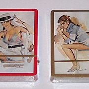 "2 Decks Piatnik Pin-Up Playing Cards, ""Münch (?)"" Designs, c. 1960s, $20/ea."