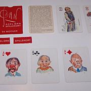 "Handa ""Pan"" Playing Cards (51/52 + 2J + EC), Axel Orn Designs, c.1965"