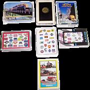 "7 Decks Various Railroad Cards, $5/ea.: (i) Maker Unknown ""Alaska""; (ii) Brown & Bigelo â€"