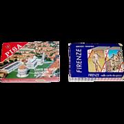 "2 Double Decks Italcards Souvenir Playing Cards, $15/ea.: (i) ""Pisa""; (ii) ""Firenze"" ("