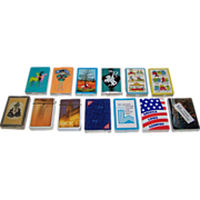 13 Mint, Sealed Decks Various Playing Cards (No Boxes), $5/ea.: (i) 4 Arrco; (ii ...