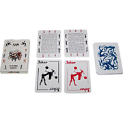 """SOLD Protea """"San"""" Playing Cards, Ashari Productions, c.1980"""