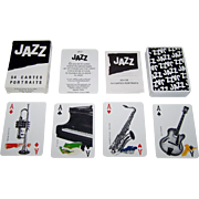 "SOLD Grimaud ""Jazz"" Playing Cards, Yannick Pennanguer Designs, c.1989"