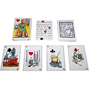 """A.G. Muller """"Jeu des Alchimistes"""" Playing Cards, Eifriede Weidenhaus Designs, c.1967"""