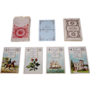 "Dondorf Lenormand No. 2 Fortune Telling Cards, ""Cartes de Bonne Aventure"" (In German, ""W"
