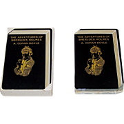 """Gemaco (?) """"The Adventures of Sherlock Holmes"""" Playing Cards, Unique Designs Pips"""