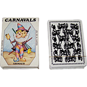 "SOLD Grimaud ""Carnavals"" Playing Cards, Silvia Maddonni Designs, c.1983"