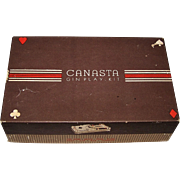 "Classic Products Company ""Canasta Gin Play-Kit,"" M. Rubinoff Creator/Designer, c.1949 ($20"