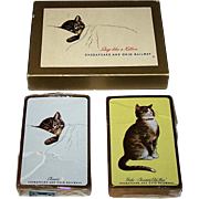"""Double Deck USPC """"Chessie"""" Railroad Playing Cards, Chesapeake and Ohio Railway, c.19"""