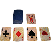 Hand Painted and Varnished India Playing Cards, French Suits, British Indices, Sawantwadi Indo