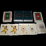"Double Deck Piatnik ""Tudor Rose"" Playing Cards, Prof. Kuno Hock Designs, c.1950s"