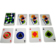 "ASS ""Simultané"" Playing Cards, Sonia Delaunay Designs, c.1980"