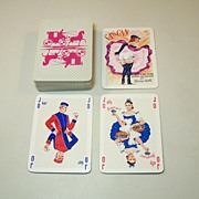 """Philibert """"Can Can"""" Playing Cards, Arietti Designs, c.1956"""