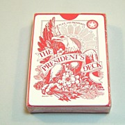 """USPC """"The President's Deck"""" Playing Cards, Alfabet, Inc. Publisher, c.1972"""