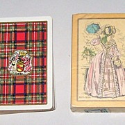 "2 Decks USPC Congress 606 Playing Cards, $15/ea.: (i) ""Stewart"" (Scottish Clan) c.1928; (i"