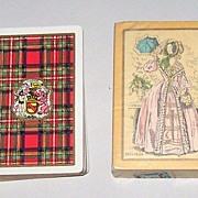 "2 Decks USPC Congress 606 Playing Cards, $15/ea.: (i) ""Stewart"" (Scottish Clan) c.1928 ..."