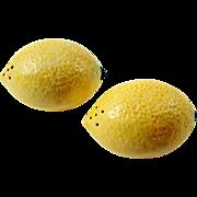 SOLD Large Vintage Lemon Salt & Pepper Set