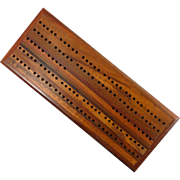 Beautiful Wood Cribbage Board with Original Pegs