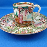 REDUCED Vintage Hand Painted Demitasse Cup & Saucer – Made in China