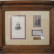 Historic Framed Image of President Abraham Lincoln's Secretary of  The Navy, Gideon Welles 186