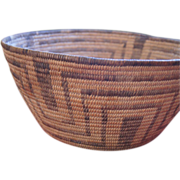 "Large Pima 1920's 11 1/2"" Basket Bowl"