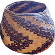 1870-1880 Huge Pit River/Wintu Large Northern California Storage Basket