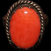 Vintage Large Coral Ring
