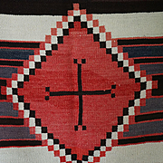 Navajo 3rd Phase Early Chief's Blanket From Ganado Trading Post