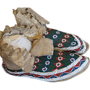 1890's Northern Cheyenne Moccasins