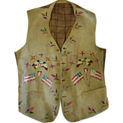 Yankton Sioux Quilled Vest 1872