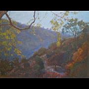 Laguna Canyon Landscape Painting By Sawdust Festival Artist Rachel Uchizono