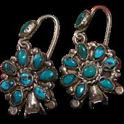Vintage Squash Blossom Earrings