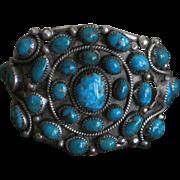 SALE Navajo Easter Blue Turquoise Nugget Bracelet