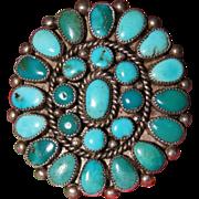 Vintage Zuni Turquoise Cluster Ring