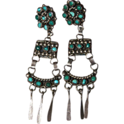 Vintage Zuni Turquoise Earrings