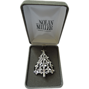 SOLD VERY RARE Nolan Miller Christmas Tree Pin ~ Book Piece