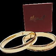 SALE Monet 1970's Pair of Bangle Bracelets ~ Mint in Box