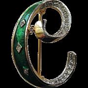 SALE DeNicola Initial Letter C Pin
