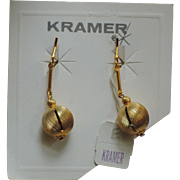 Kramer of New York Gold Drop Earrings