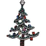 REDUCED Dorothy Bauer Christmas Tree Pin/Pendant ~ Book Piece