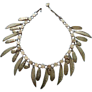 Vendome 1967 Bolder Than Gold Modernist Bib Runway Necklace