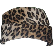 Evelyn Varon 1960's Faux Leopard Print Fur Hat